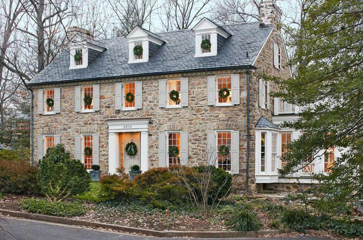 stone colonial house