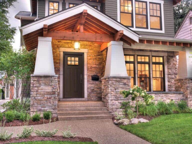 What style of exterior house do you like? How about a traditional craftsman style home?