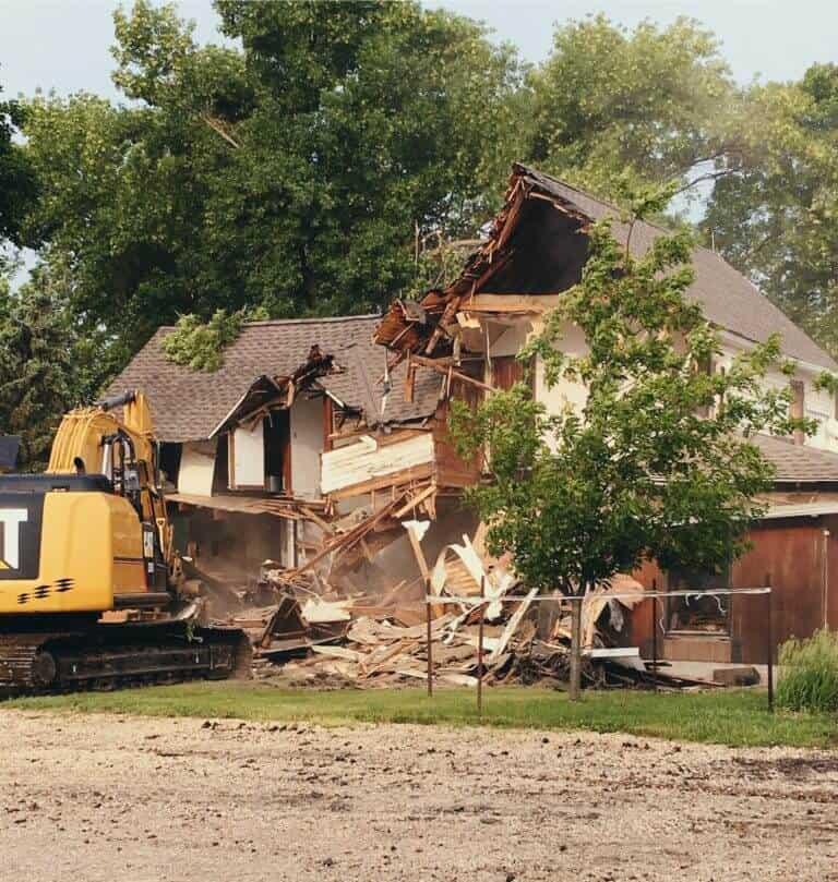 Demolishing 100 yr old farmhouse that had mold.