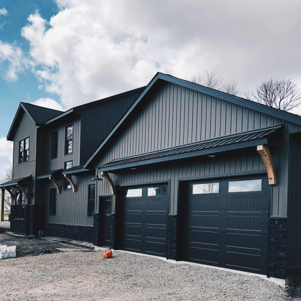 Dark Modern Farmhouse from Down Leah's Lane