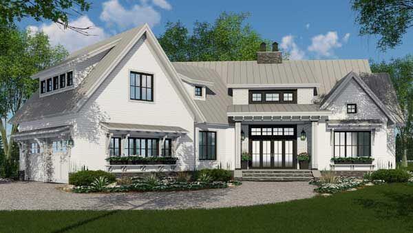 4 Bedroom , 3 Bath Modern Farmhouse House Plan #38-528