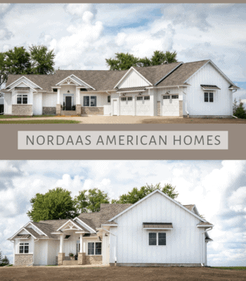 Nordaas American Homes Modern Farmhouse white ranch house