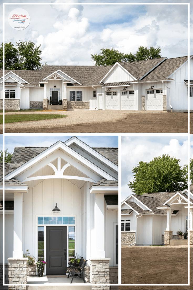 Nordaas American Homes Modern Farmhouse white ranch house