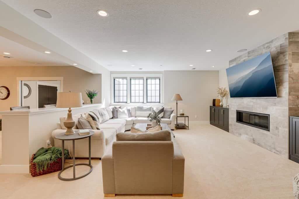 lower level basement family room open concept
