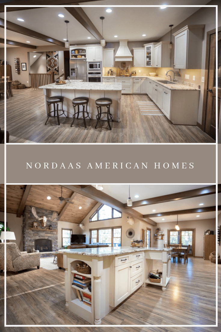 Nordaas American Homes Rustic Open Concept Farmhouse Kitchen Pinterest Marketing by Down Leah's Lane