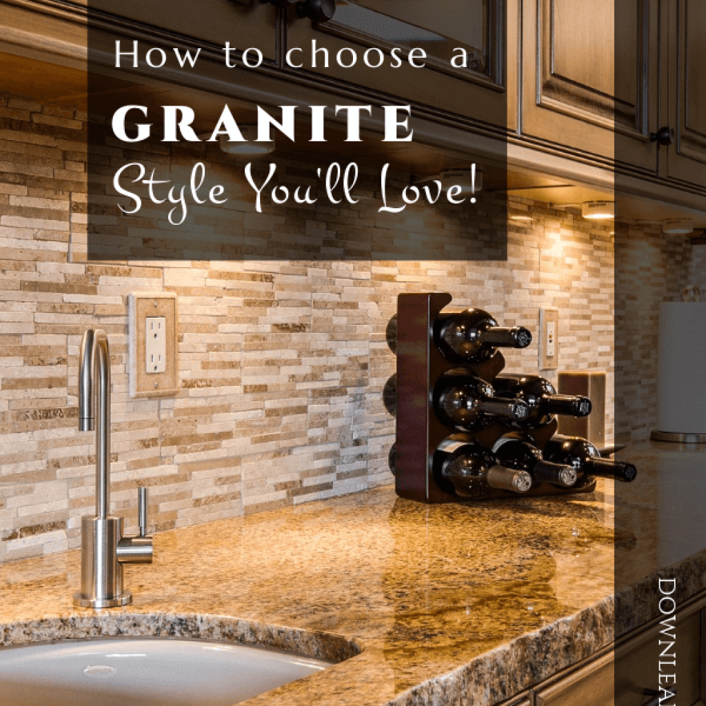 Ideas for granite designs and styles to help you choose the countertop you'll love! I love countertops and can't wait to share these beautiful granite pieces with you.